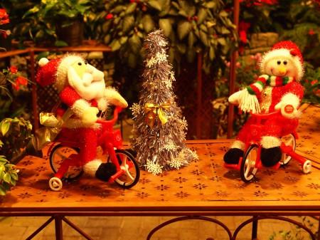 ベゴニアガーデン内のクリスマス仕様