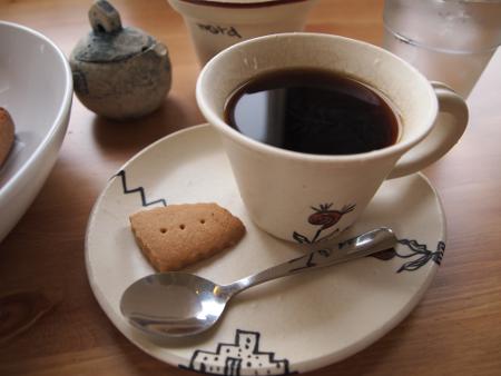 炭火焙煎コーヒーとクッキー