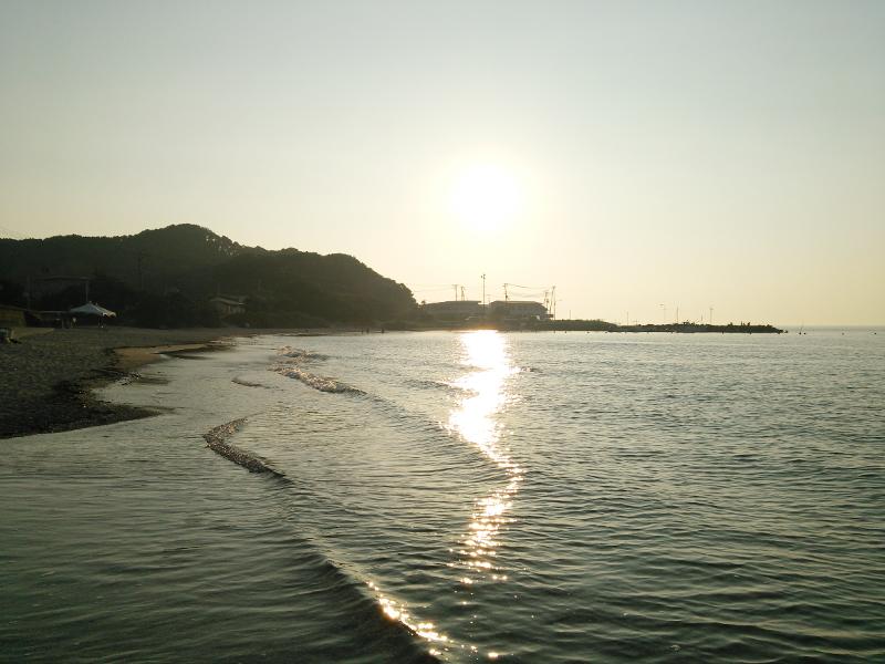 和歌山県の砂浜と海
